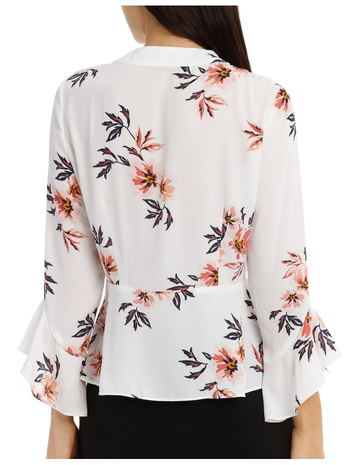 Pussy Bow Blouse - Desert Flower Floral image 3