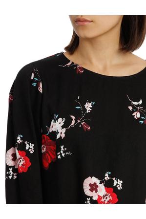 Tokito - Tie Sleeve Shell Top - Exploded Poppy Print