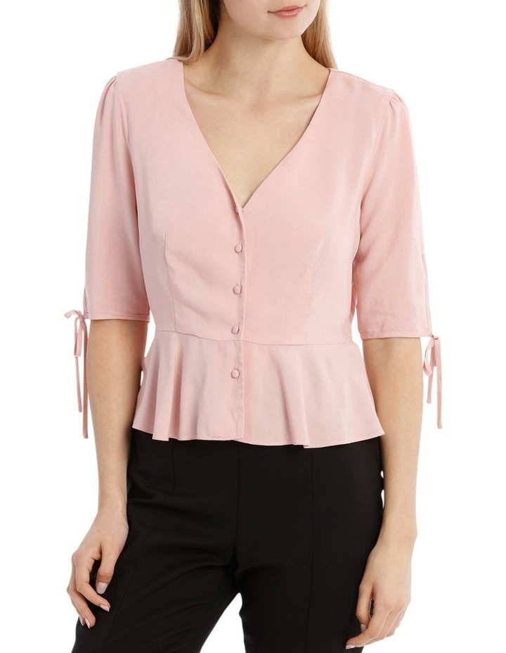 Button Up Blouse - Musk Pink image 1