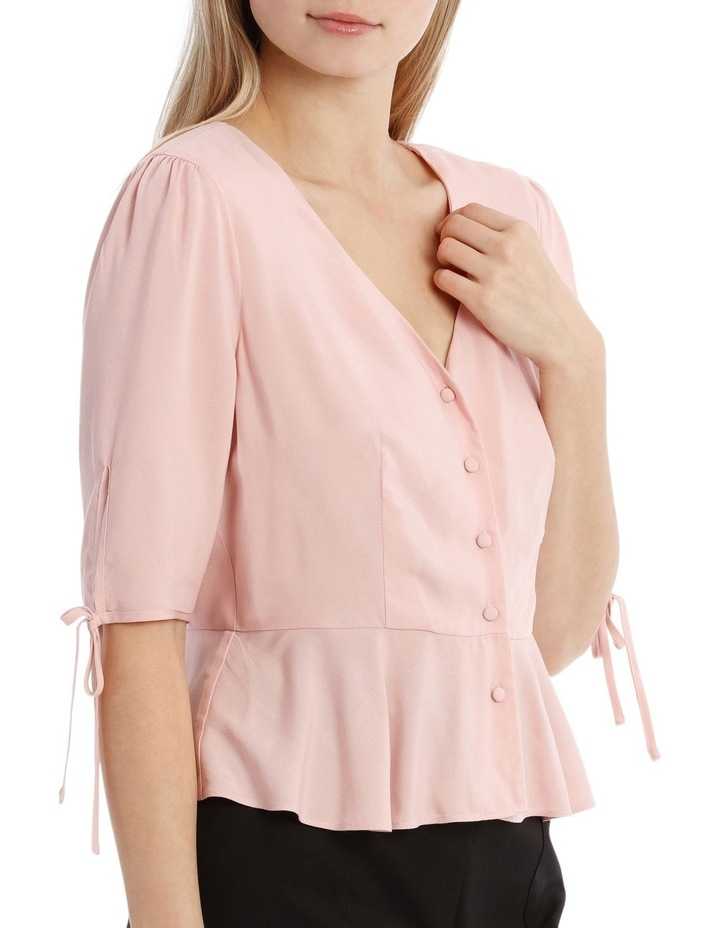 Button Up Blouse - Musk Pink image 2