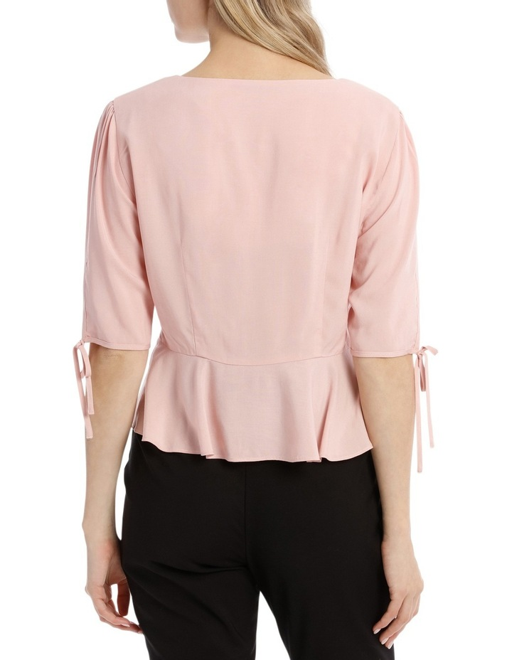 Button Up Blouse - Musk Pink image 3