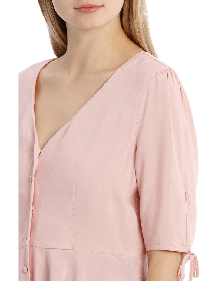 Button Up Blouse - Musk Pink image 4