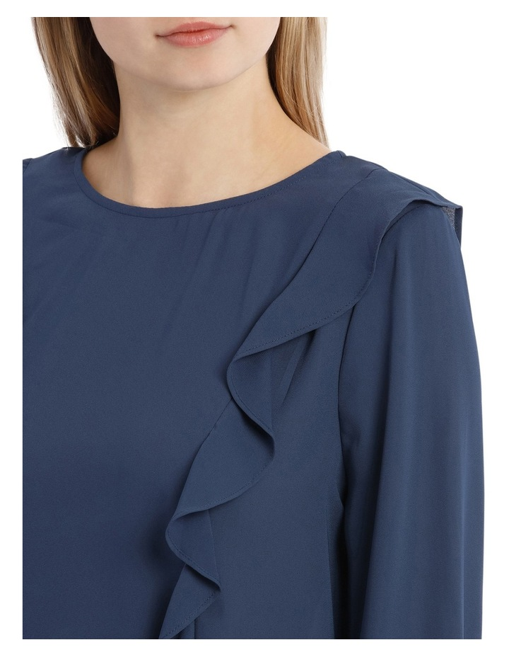 Frill Front Top - Petrol Blue image 4