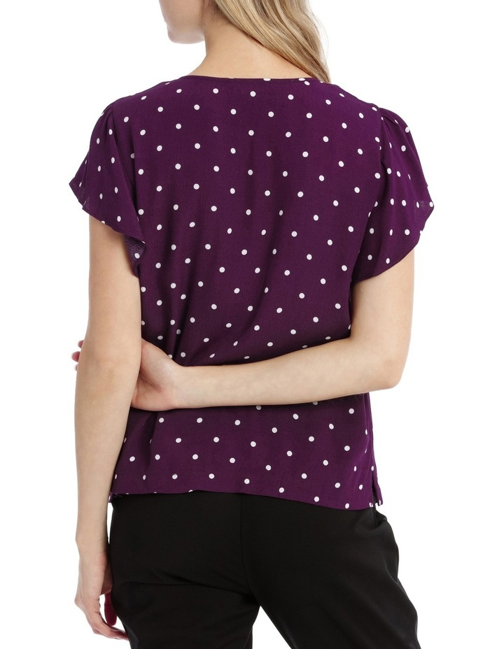 Flutter Sleeve Tie Neck Top - Spot image 3