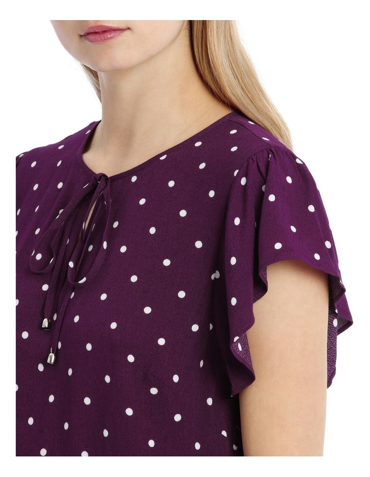 Flutter Sleeve Tie Neck Top - Spot image 4