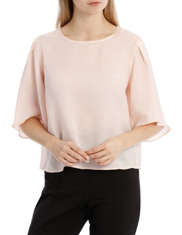 Wide Sleeve Shell Top - Powder Pink image 1