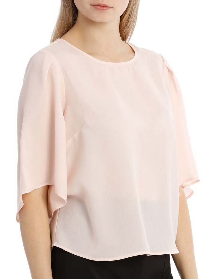 Wide Sleeve Shell Top - Powder Pink image 2