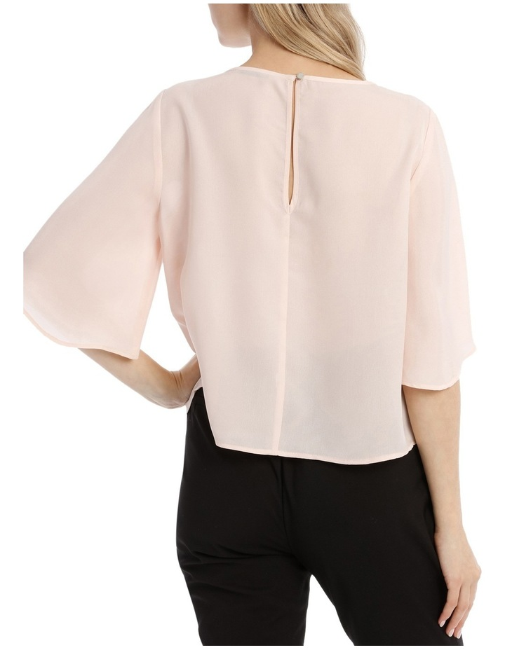 Wide Sleeve Shell Top - Powder Pink image 3