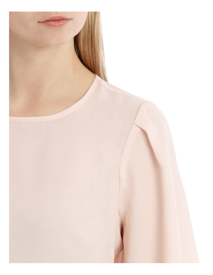 Wide Sleeve Shell Top - Powder Pink image 4