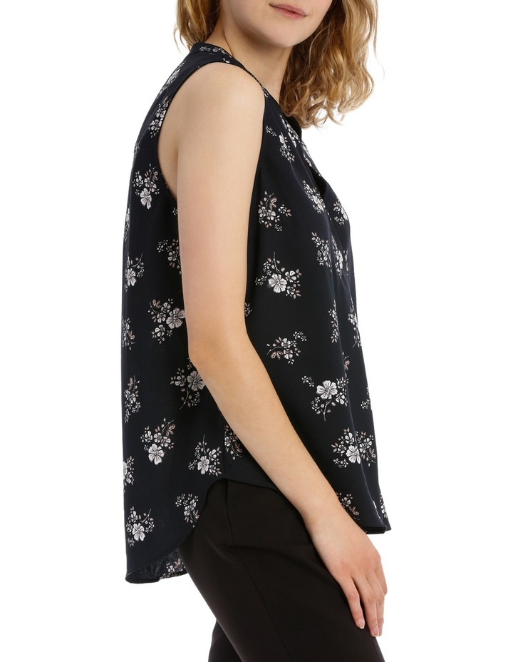 Cross Front Sleeveless Top - Sketch Floral image 2