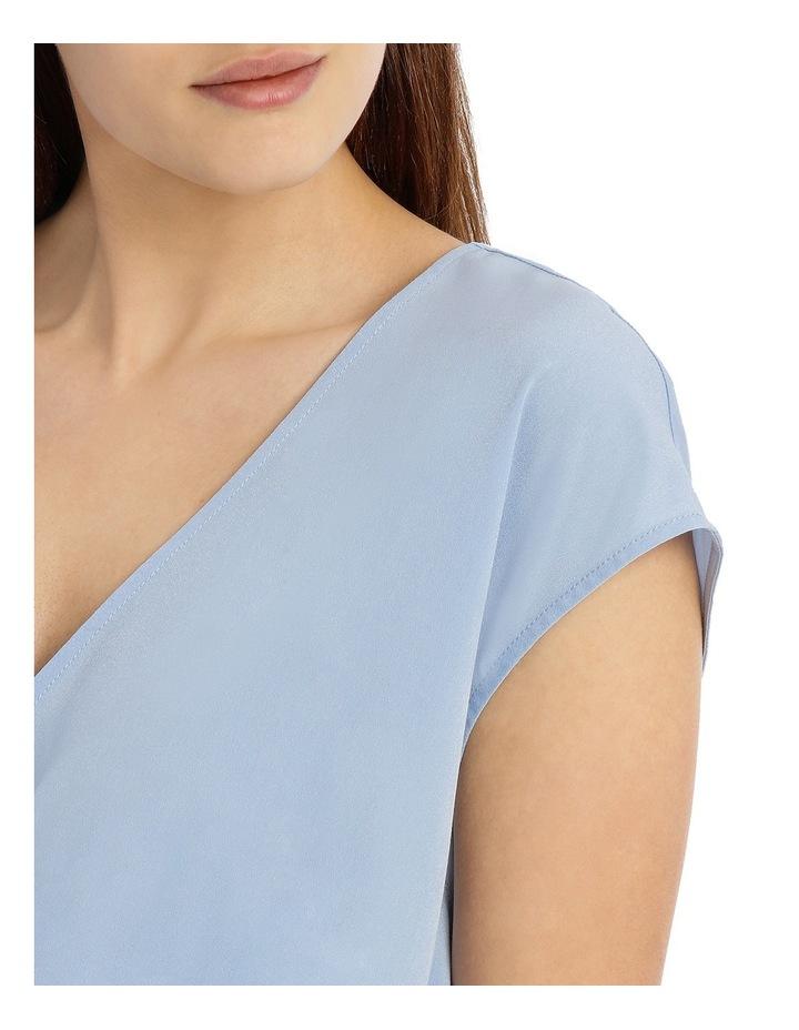 Twist Front Drape Top - Pale Blue image 4