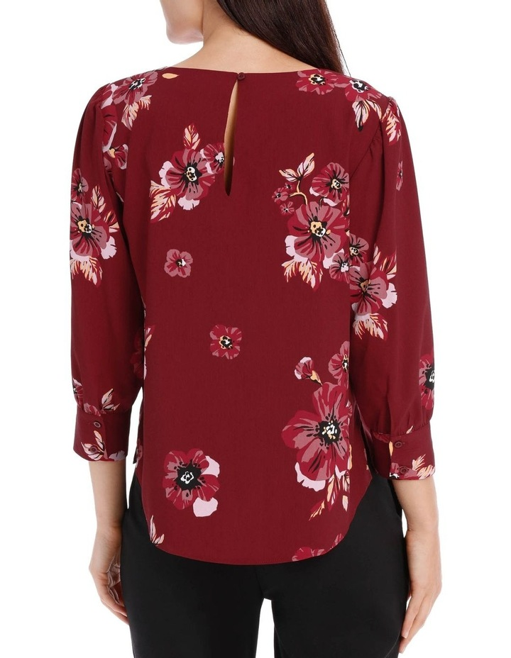 puff sleeve shell top - graphic poppy image 3