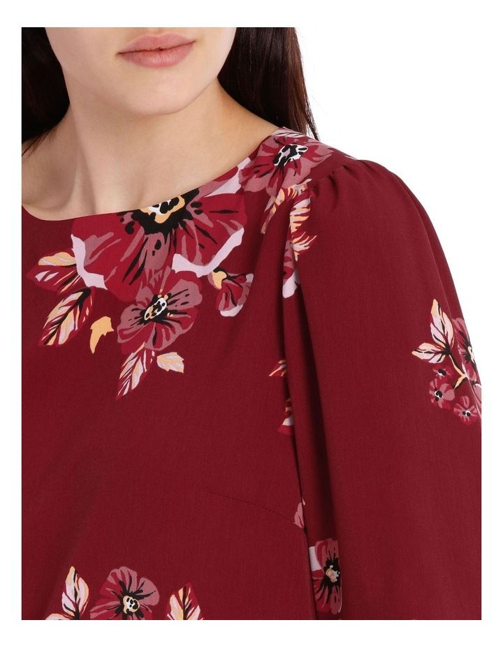 puff sleeve shell top - graphic poppy image 4