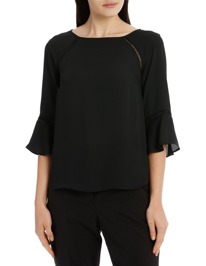 Lace Insert Top - Black image 1