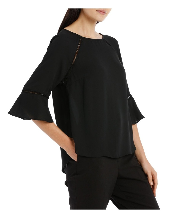 Lace Insert Top - Black image 2