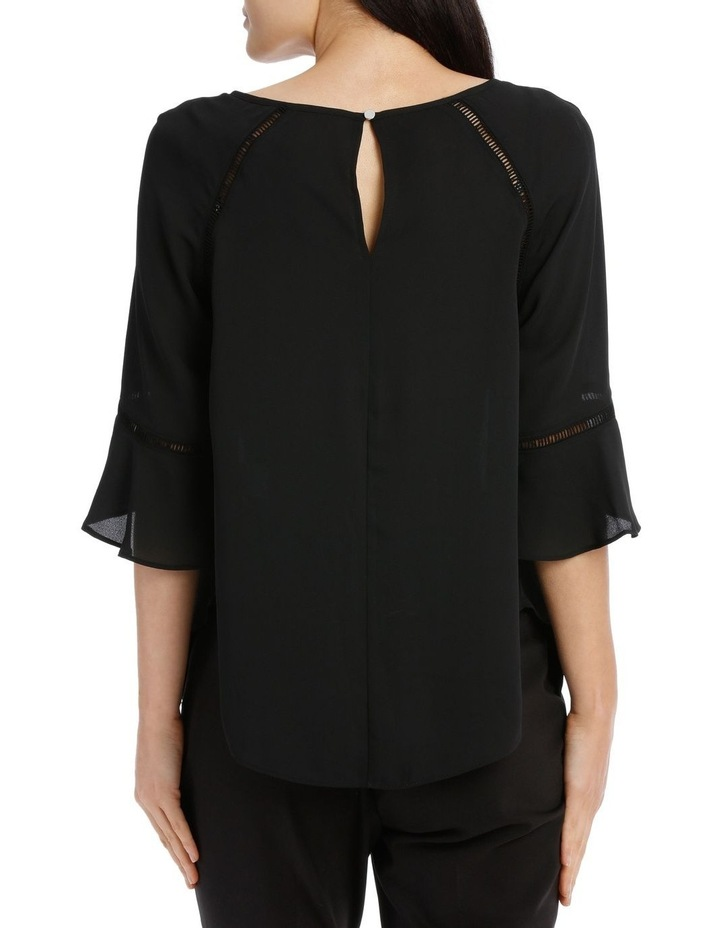 Lace Insert Top - Black image 3