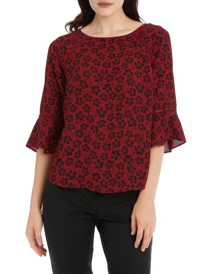 Lace Insert Top - Stencil Floral image 1