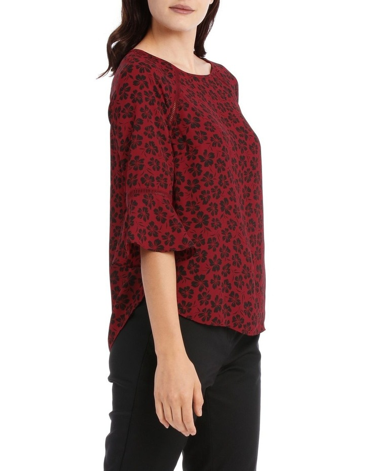 Lace Insert Top - Stencil Floral image 2