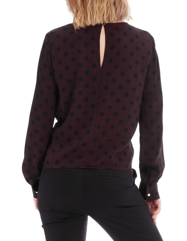 Spotted Print Tie Front Top image 3