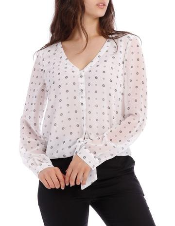 4497537a4ab Tokito Ditsy Spot Tie Front Shirt