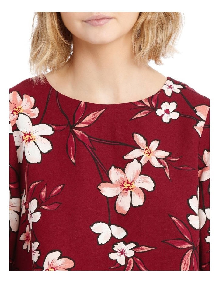 Linen Puff Sleeve Top - Painted Floral image 4
