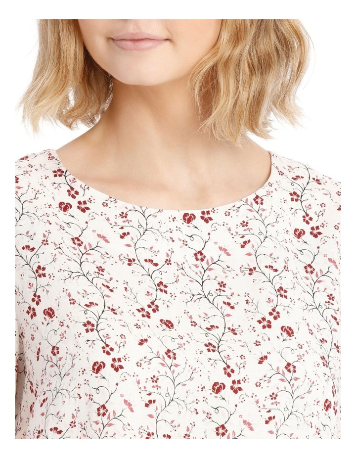 Linen Puff Sleeve Top - Vine Floral image 4