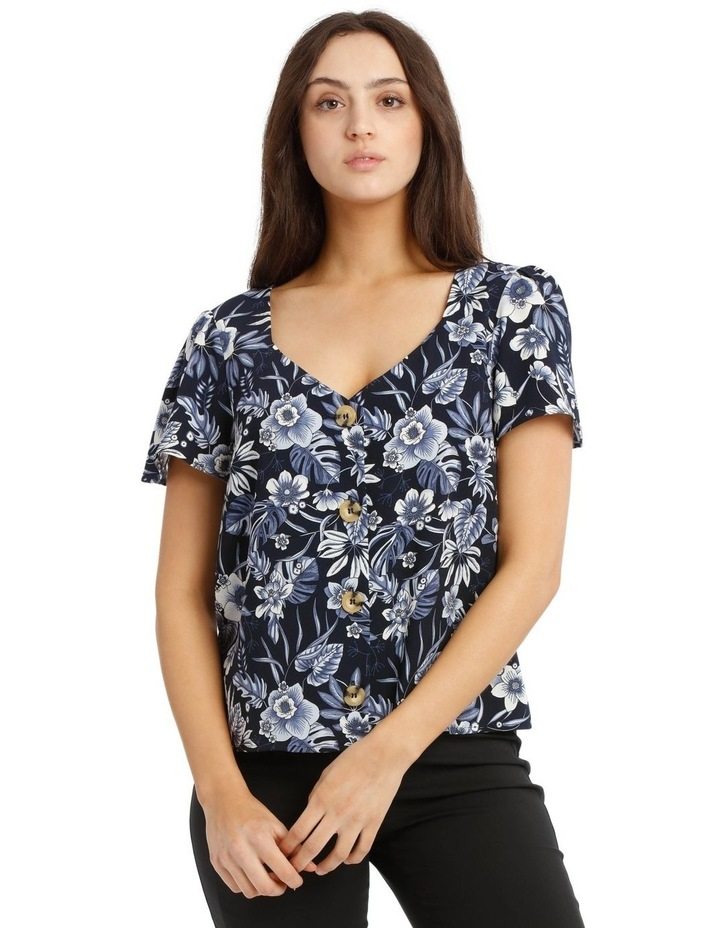 Button Up Flutter Sleeve Top image 1