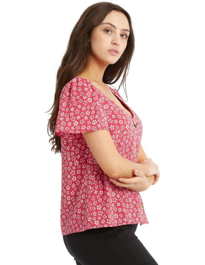 Button Up Flutter Sleeve Top image 2