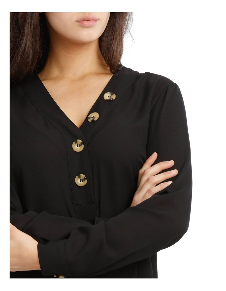 Button Detail Long Sleeve Top image 4