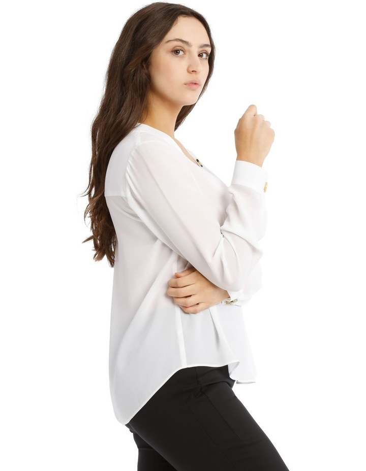 Button Detail Long Sleeve Top image 2