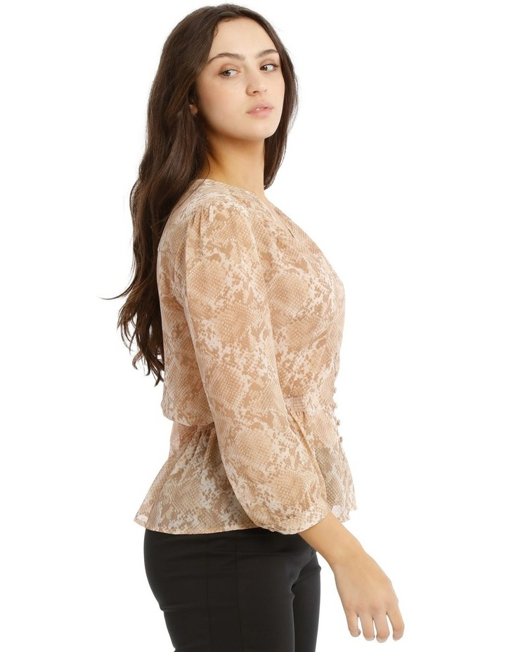Shirred Waist Button Up Blouse image 2