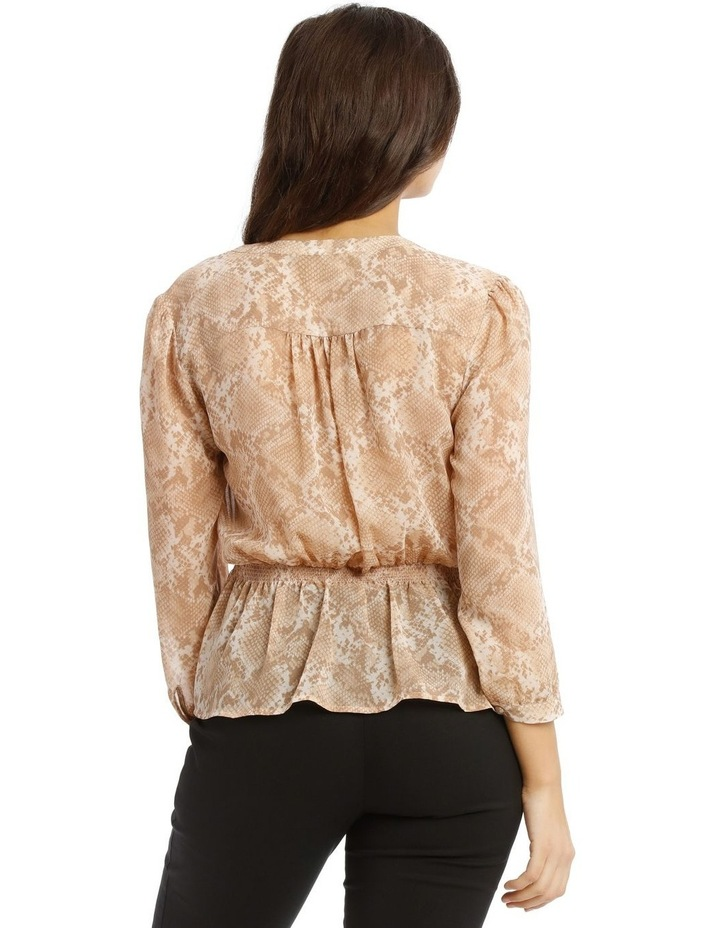 Shirred Waist Button Up Blouse image 3