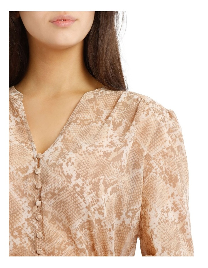 Shirred Waist Button Up Blouse image 4