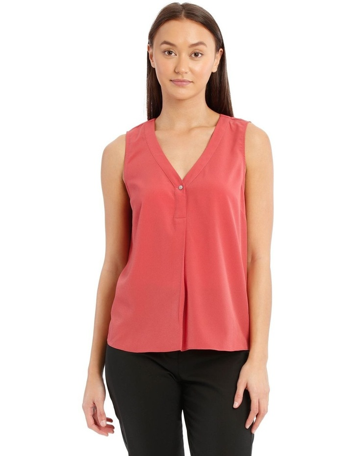Button Detail Sleeveless Top image 1