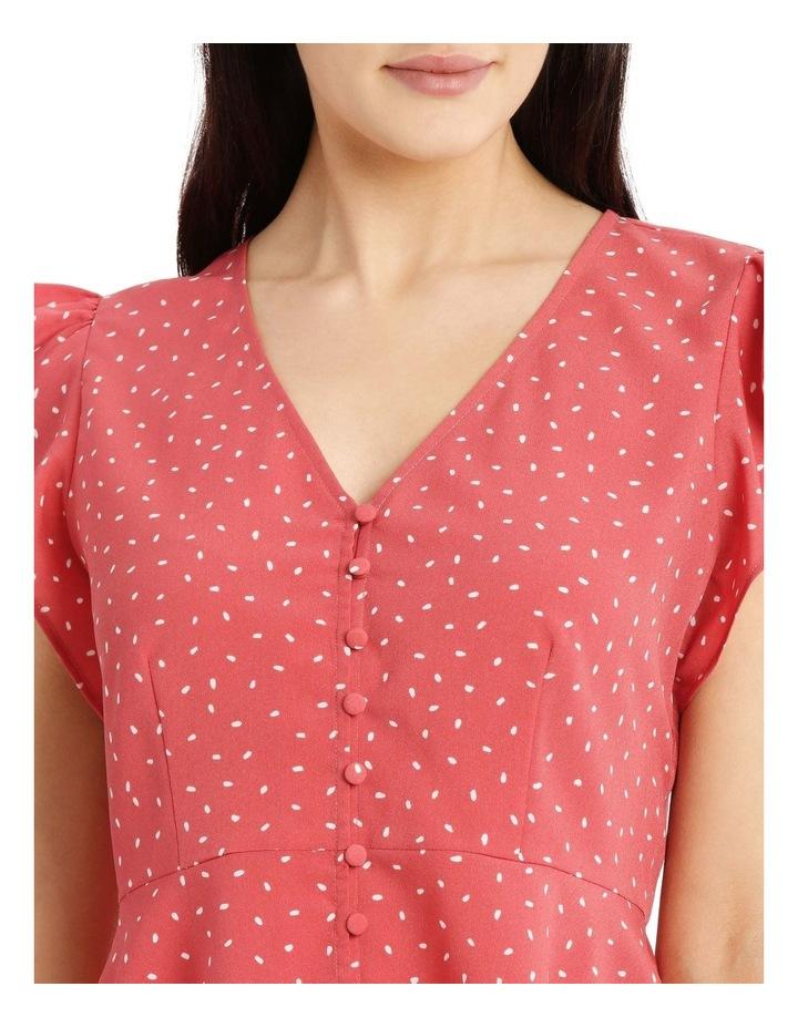 Button Up Flutter Sleeve Top image 4