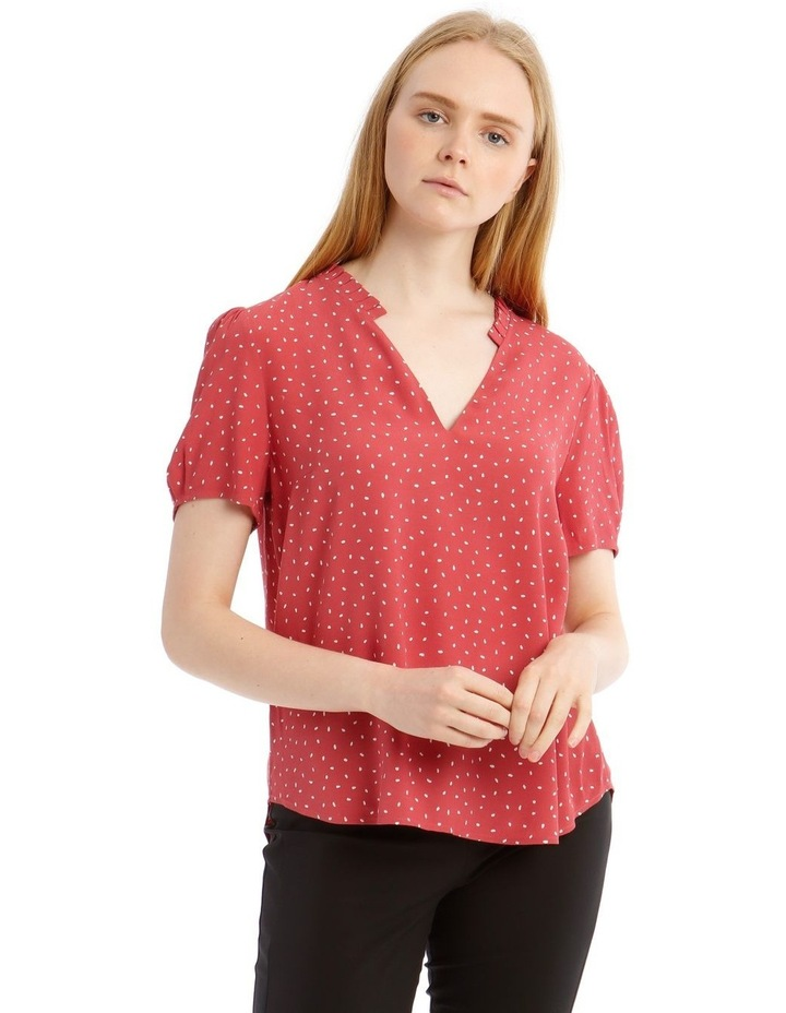Puff Sleeve Frill Neck Top image 1
