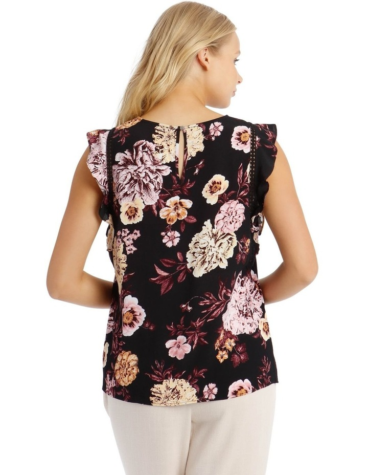 Lace Insert Flutter Sleeve Top image 3