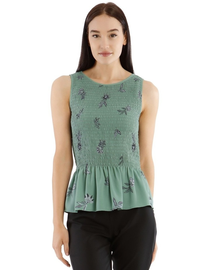 Spaced Paisley Shirred Tank Top image 1