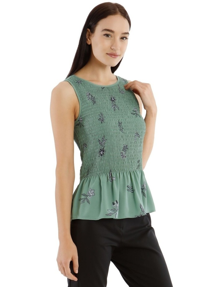 Spaced Paisley Shirred Tank Top image 2