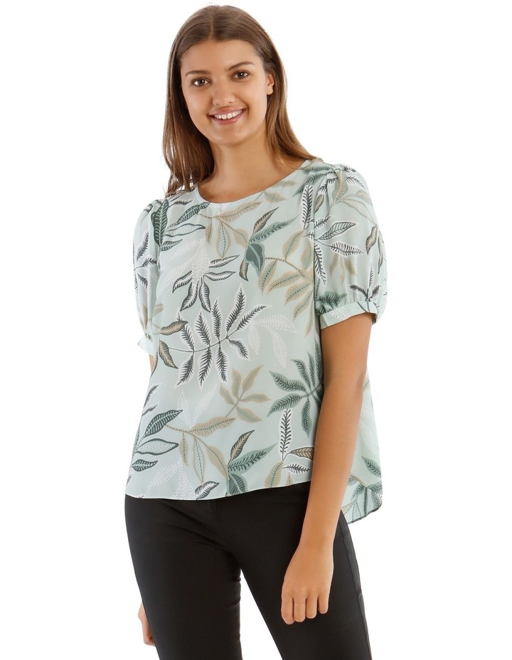 Puff Sleeve Shell Top image 1