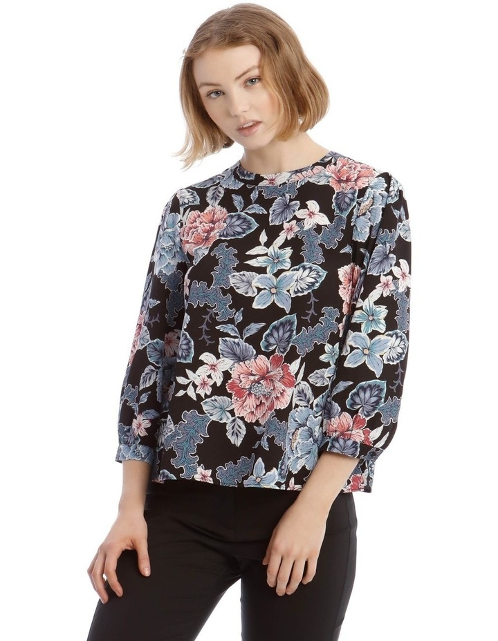 High Neck Puff Sleeve Top image 1