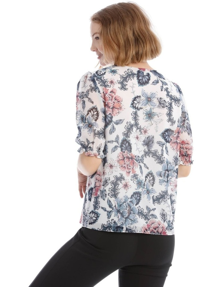 Button Front Shirred Sleeve Top image 3