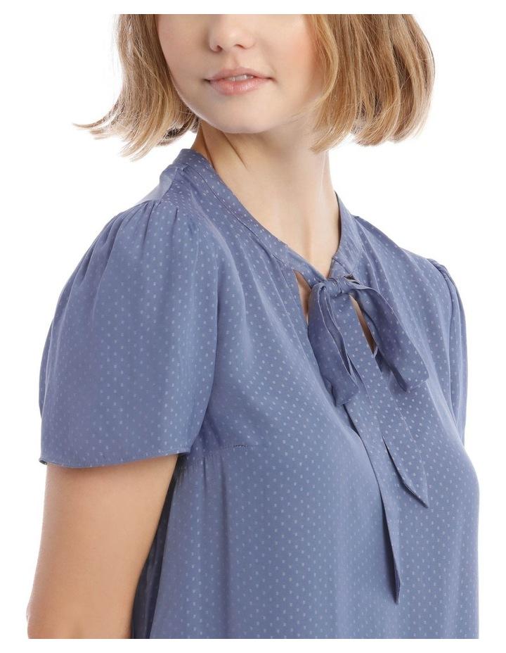 Pussy Bow Short Sleeve Blouse image 4