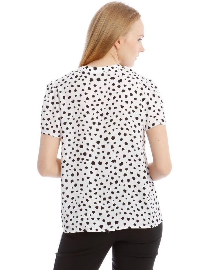 Pussy Bow Short Sleeve Blouse image 3