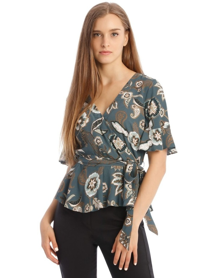 Flute Sleeve Wrap Top image 1