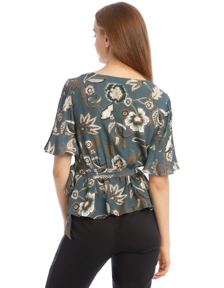 Flute Sleeve Wrap Top image 3