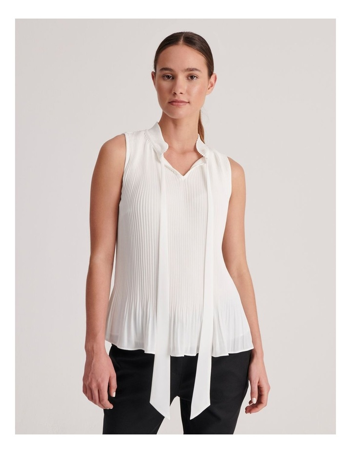 Pleated Tank with Tie image 1