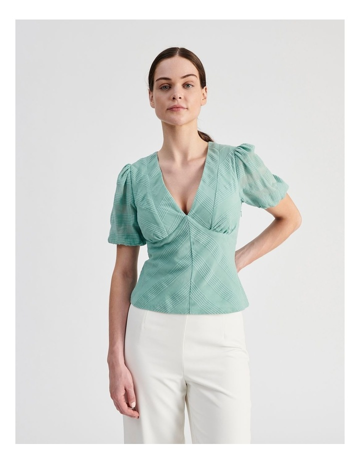 Cotton Puff Sleeve Top image 1