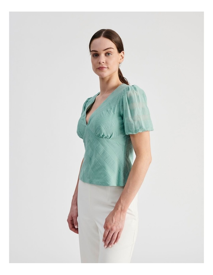 Cotton Puff Sleeve Top image 2