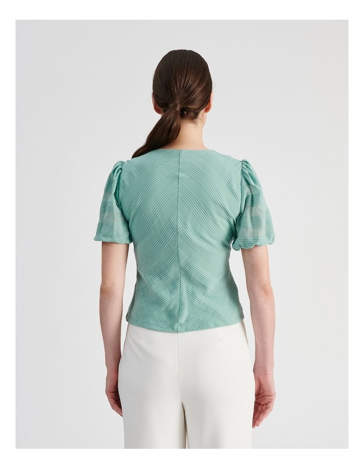 Cotton Puff Sleeve Top image 3
